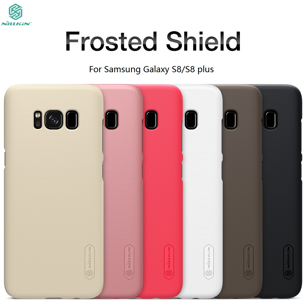 Case For Samsung Galaxy S8 / S8 Plus NILLKIN Frosted Shield Back Cover For Samsung Galaxy S8 Case S8Plus S8+ Bumper Gift Film