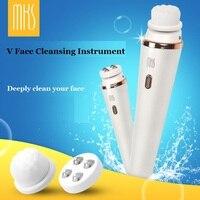 Mks usb ricaricabile disegno impermeabile ipx7 v viso strumento di pulizia smooth viso strumenti profondamente pulire il viso nessun danno per la salute pelle