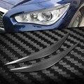 Накладка для фар из углеродного волокна  наклейка для бровей и век для Infiniti Q50 2014-2017