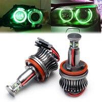 7000K Green H8 LED Angel Eyes Halo Ring Marker Bulbs for BMW E64 E84 X1 X5 X6 Z4