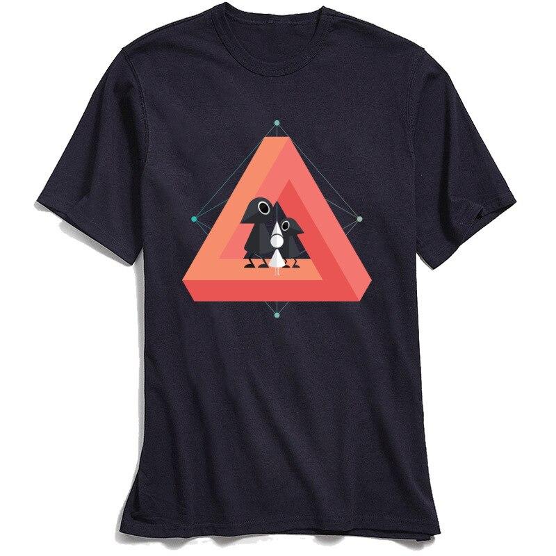 Penrose Kingdom Top T-shirts Geek Men T Shirt 2018 New Fashion Tee Short Sleeve Customized 100% Cotton O Neck Mens TShirt