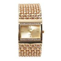 O T Sea Shining Star Luxury Brand Women Watch Ladies Clock Diamond Hand Wrist Watch Gold