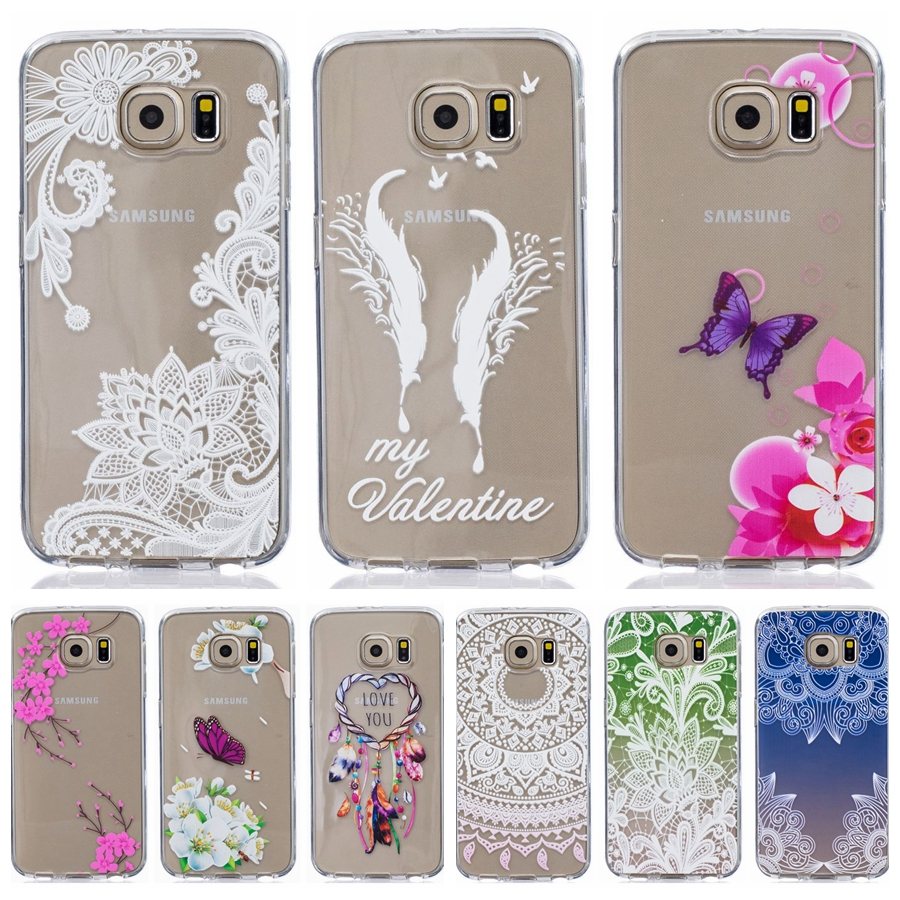 Soft TPU Silicone case 5.1For Fundas Samsung Galaxy S6 Edge Case For Samsung S6 G9200 cover Printed Clear Mobile Phone Case ...