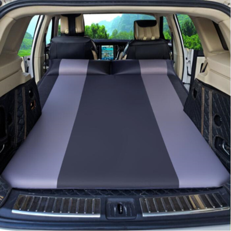Car Air Inflatable Travel Bed Mattress for Universal Auto Back Seat Mattress Sofa Pillow Outdoor Multi Usage Camping Mat Cushion