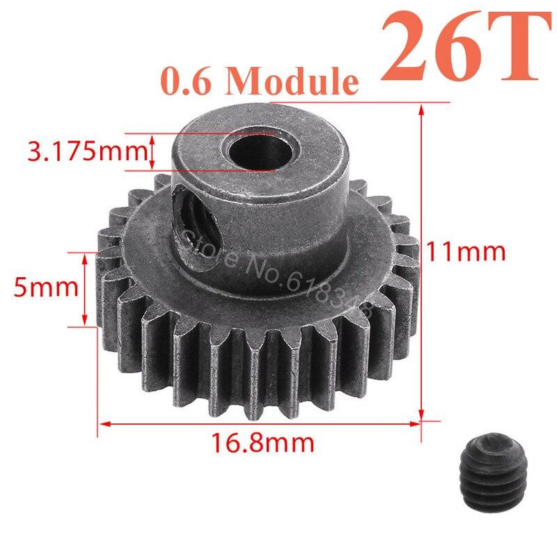 HSP 11176 Motor Gear 26T Teeth Steel Metal 1 10 RC Car Parts For Electric Off
