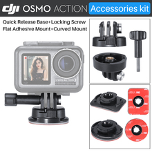Ulanzi DJI Osmo Action Camera Accessories Kit with 3M Adhesive Paste Sticker for Osmo Action,Gopro Adapter Mount Holder