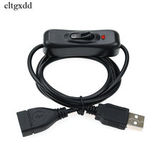 Cltgxdd Elettronica Data Cavo USB Maschio a Femmina cavo di Conversione Interruttore ON OFF Cavo Toggle LED di Alimentazione Della Lampada Linea Nera
