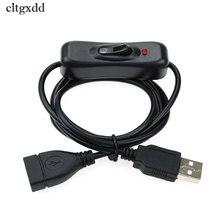 Cltgxdd elektronika data konwersja kabla USB męski na przełącznik żeński ON OFF kabel przełącz LED moc lampy linia czarna