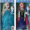 Disney Juguetes Para Niños 29 Cm de Dibujos Animados Lindo Muñecas Princesa Congelada Elsa Anna Musical Muñecas Juguetes Regalos de Navidad Juguetes Tq0083