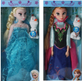 Disney Toys For Kids 29 Cm Cute Cartoon Princess Dolls Frozen Elsa Anna Musical Dolls Toys Christmas Gifts Juguetes Tq0083