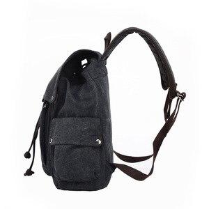 Image 2 - Mens Laptop Computer Backpack High quality Canvas Backpacks Teenage School Bag Fashion Travel Backpack Large Capacity Daypacks