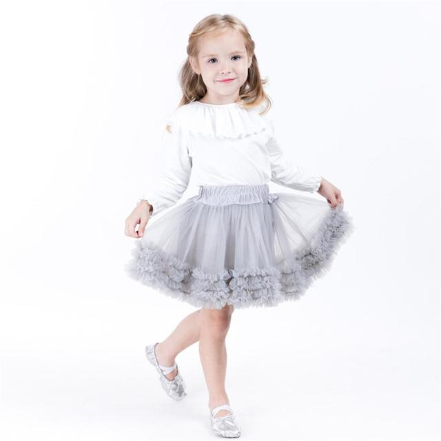 7bd0e7663 Girls Tutu Skirt Ballerina Pettiskirt Layer Fluffy Children Ballet ...