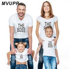 Футболка с надписью «REAL BOSS» Одежда для мамы, дочки, папы и сына одинаковые комплекты для мамы и ребенка одежда для всей семьи модная одежда с надписью