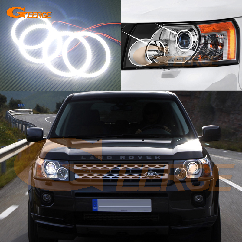 For LAND ROVER FREELANDER LR2 2007 2008 2009 2010 XENON HEADLIGHT Excellent Ultra bright illumination smd led Angel Eyes kit big discount 1 piece 4 1 button remote key card with 433mhz for land rover freelander 2 2006 2007 2008 2009 2010