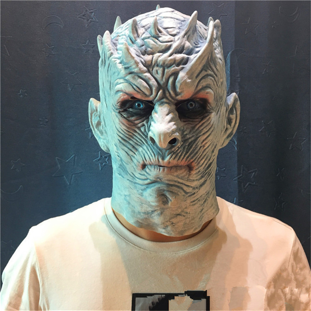 Humorous A Song Of Ice And Fire Game Of Thrones Season 8 White Walkers Night King Mask Cosplay Full Head Mask Helmet Latex Prop Halloween Let Our Commodities Go To The World Back To Search Resultshome