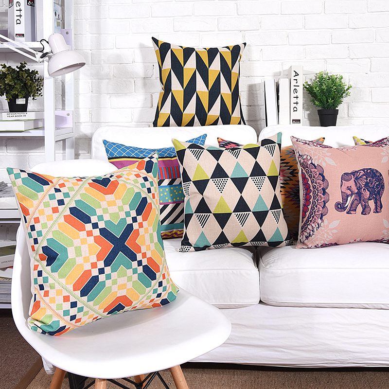 Wholesales Cushion Cover Geometric Abstract Elephant pillow case Throw decorative cushion covers 45cm*45cm/60*60cm
