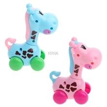 Cute Giraffe Cartoon Animals Clockwork Wind Up font b Toys b font Running Plastic Kids Children