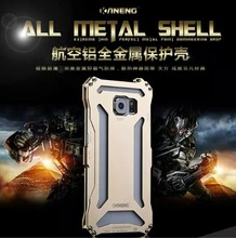 Luxury S6 Metal Aluminum Back MS Case For Samsung Galaxy S6 G9200 Hard Metal Aluminum Bumper Armor Accessories Cover