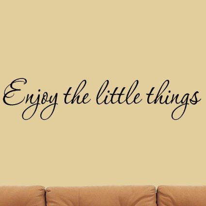 English famous quote Enjoy the Little Things Vinyl Wall Decal Saying ...