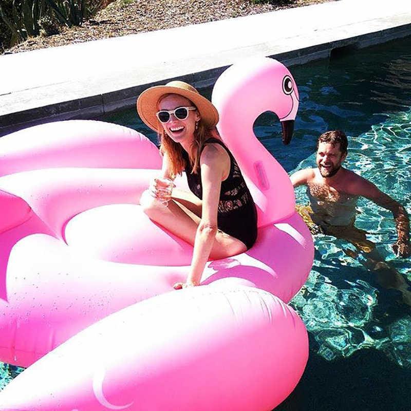 190 см надувной гигантский поплавок в виде фламинго для взрослых, игрушки для бассейна, вечерние летние кольца для плавания