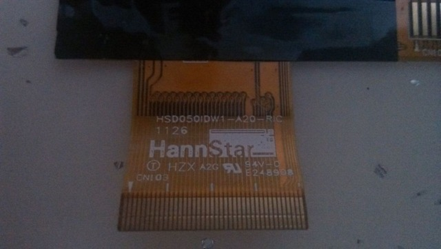 Original 5 inch 40 high needle LCD screen hsd050idw1-a20-ric hsd050idw1-a20 800*480 free shipping