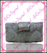 Aidocrystal ladies silvery evening bag and high heel shoes set for wedding party