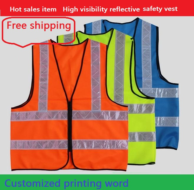 Reflective vest Reflective safety vest Knitted warp cloth with PVC reflective tape to closure High visibility clothing