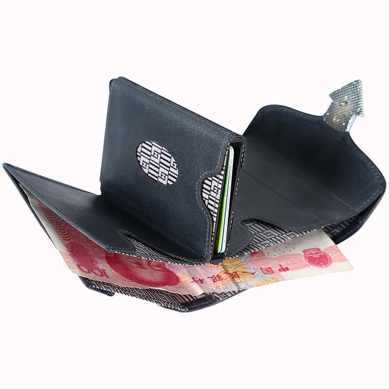 Nouveau Design homme argent sacs à main portefeuille décontracté pour hommes multi fonctionnel court portefeuille en cuir de vachette Vintage luxe homme sac à main - 5
