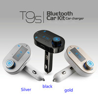 T9S Kit de Coche Bluetooth MP3 Reproductor de Música Manos Libres Modulador Transmisor Inalámbrico Cargador USB Adaptador de Radio dash cam