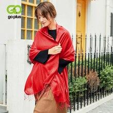 GOPLUS 2019 Fashion Spring Solid Scarf Women Tassal Soft Cotton Luxury Brand shawls Lady hijab Vintage scarves Female Bandana