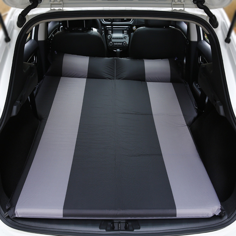 4Color SUV Car Inflatable Mattress - Seat Travel Bed Air Mattress With Air Pump Outdoor Camping Moisture-proof Pad image