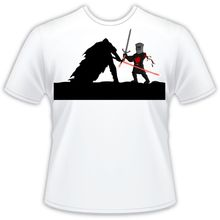 Mens T Shirt: Star Wars: Kylo Ren vs The Black Knight Monty Python Shirt Free shipping  Harajuku Tops Classic
