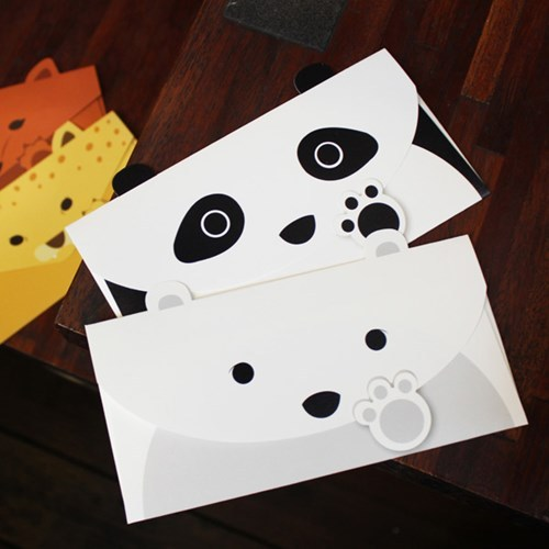 Personalized design paper envelope korea creative cute for Cute creative christmas cards