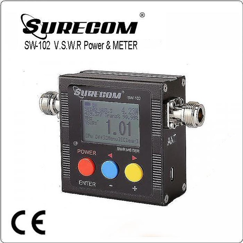 surecom sw 102 - SURECOM SW-102  SW102 vswr 125 - 520MHz meter with frequency counter & power meter 409shop product