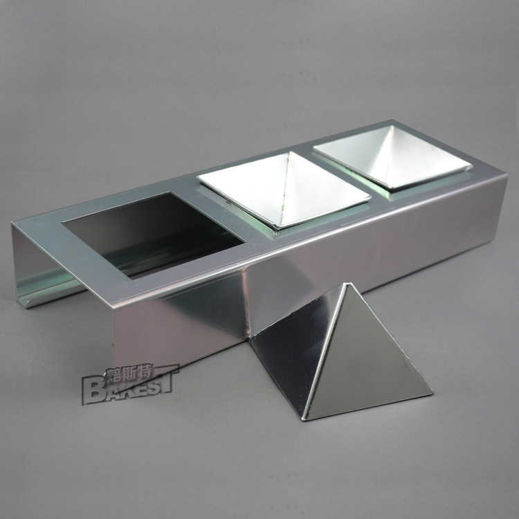 BAKEST 소형 알루미늄 피라미드 금형 베이킹 케이크 금형 Bbakeware 퐁당 도구