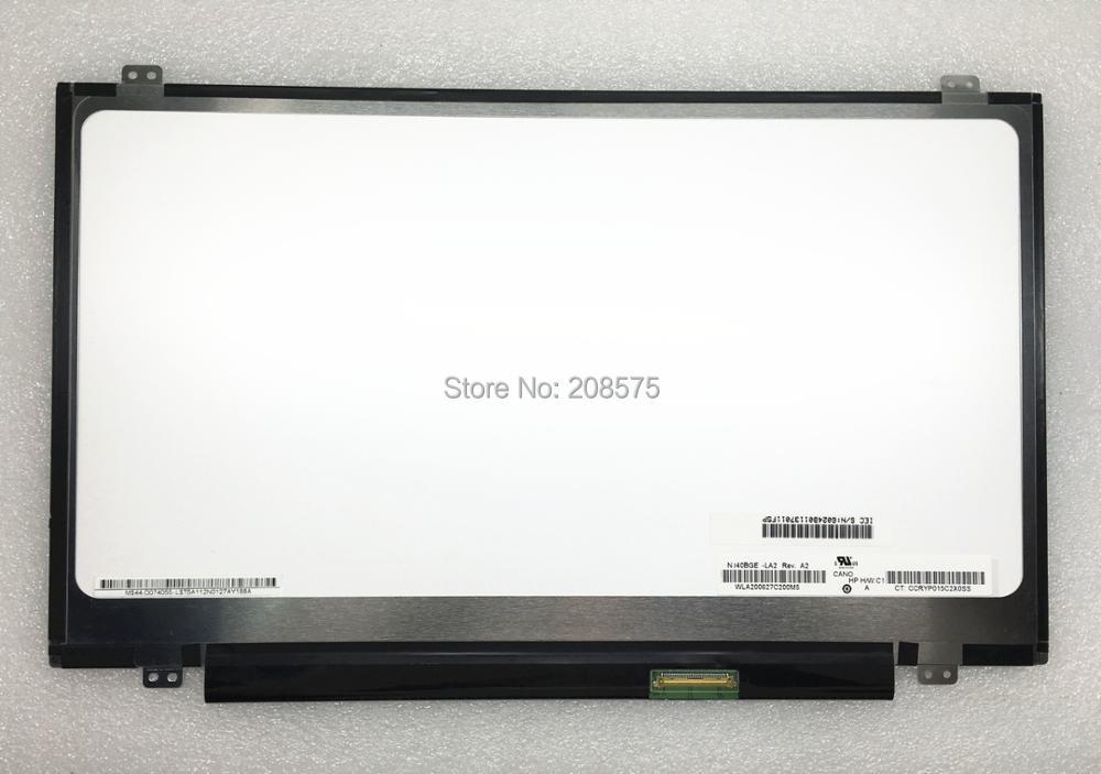 цена Free shipping 14.0''inch N140BGE-LA2 LP140WHU TLB1 N140BGE L42 L43 LP140WH2 TLA2 laptop lcd screen 1366*768 LVDS 40pins