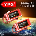 2 P YPG 11.1 В 1000 МАЧ 60C 3 S Lipo батарей batteria липо Для quadcopter & RC автомобиль части