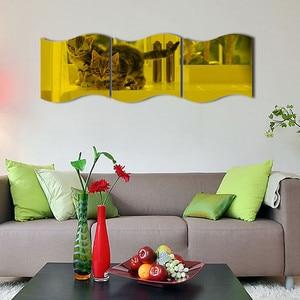 Image 5 - New 3PCS DIY Removable Home Room Wall Mirror Sticker Art Vinyl Mural Decor Wall Sticker vinilos decorativos para paredes