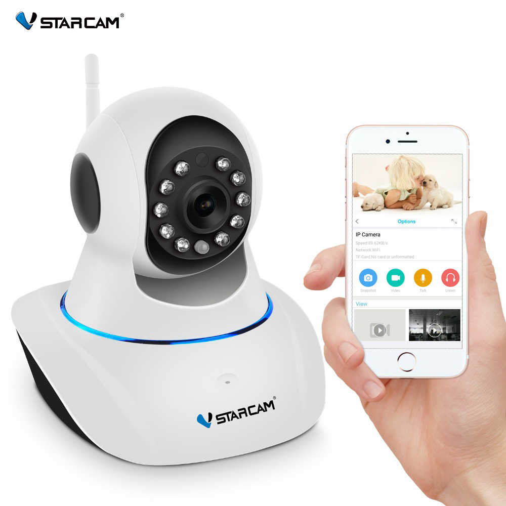VStarcam IP Kамерa 720P Wireless видеонаблюдение Обнаружение движения Двухстороннее аудио Хранение памяти ИК-порт P/T сигнализация для дома сигнализация для дома