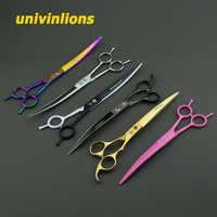 "7.5/8"" curved pet shears dog grooming scissors dog cat hair clippers animal cut dog hair scissors grooming pet scissors for cats"