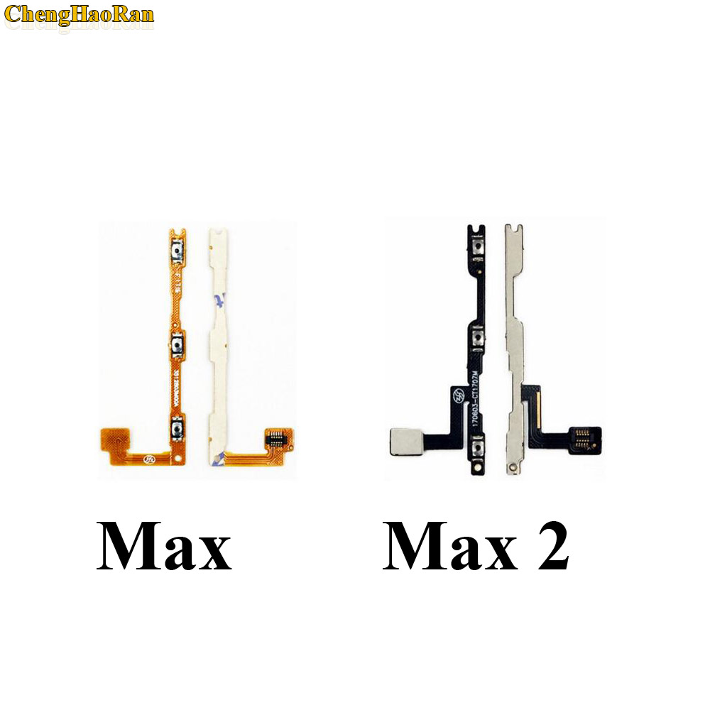 ChengHaoRan New Power Button On / Off Volume Mute Switch Button Flex Cable For Xiaomi Mi Max 2 Max2 Repair Parts Replacement