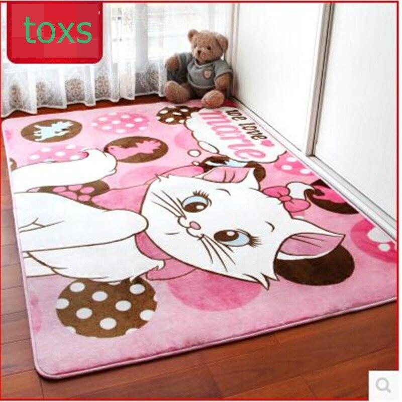 Bande dessinée chambre tapis tapis tapis table basse yoga tapis enfant réel épaississement tapis rampant corail polaire matirial 130 cm * 185 cm