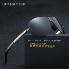 HDCRAFTER Oversized Polarized Sunglasses Men Retro Alloy HD Mirror Driving Glasses Male Luxury Brand UV400 Oculos Gafas De Sol