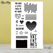 Zhuoang Heart pattern Transparent Silicone Stamps/Seal  DIY Scrapbooking/Photo Album Decorative Card Making Clear Stamps