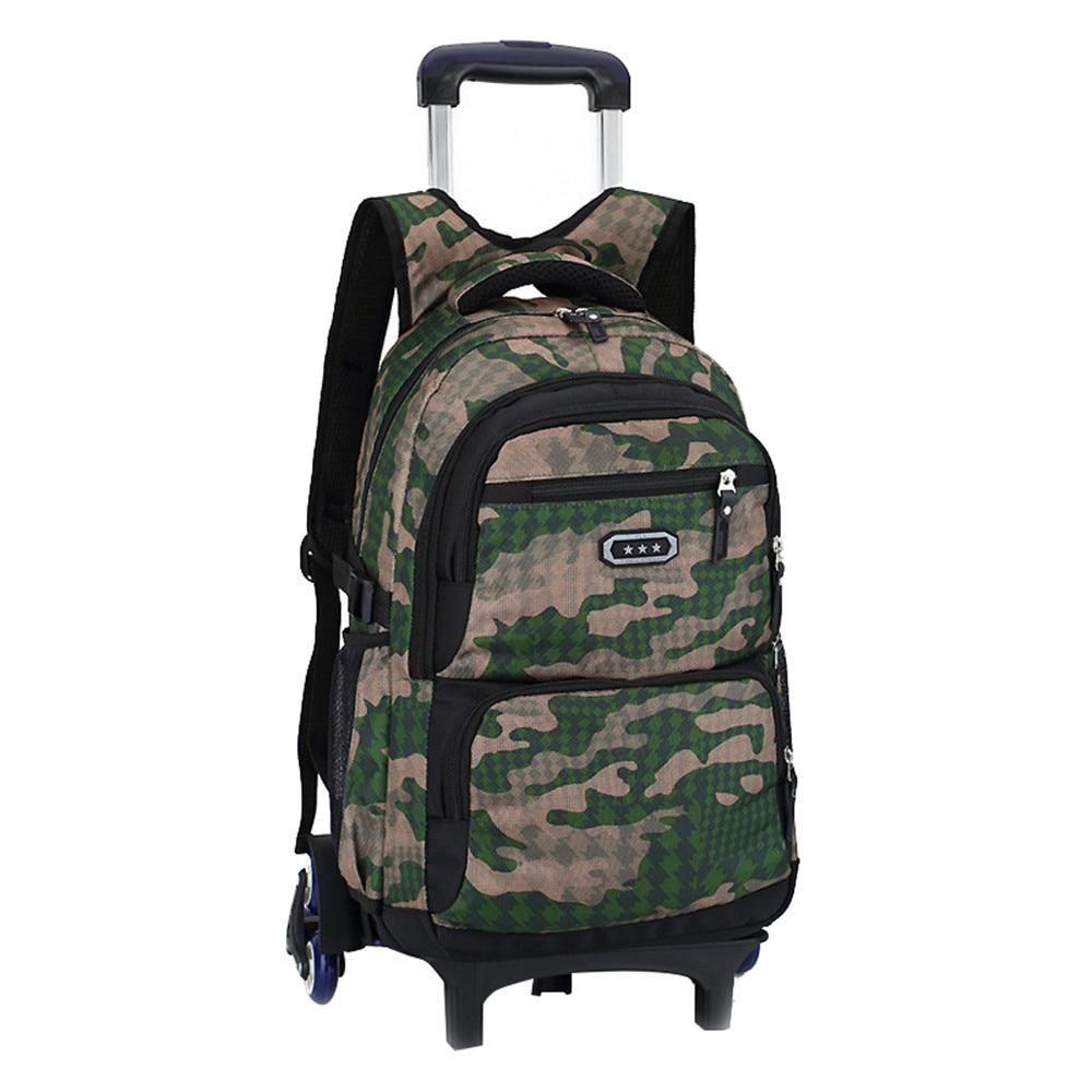 Children Trolley School Backpack 2/6 Wheels Fashion Wheeled School Bag For Girls Boys Detachable Kids Schoolbags Mochilas