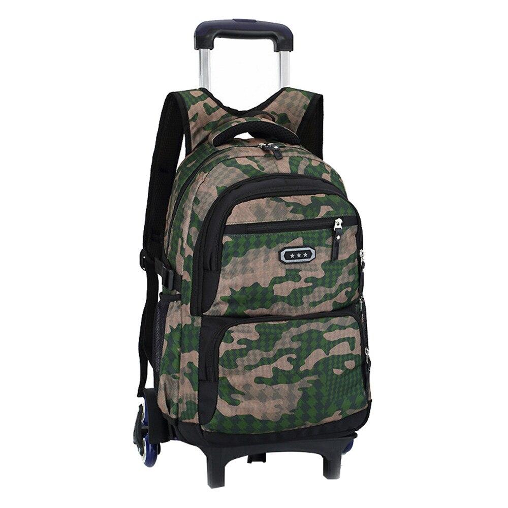 Enfants Trolley école sac à dos 2/6 roues mode à roulettes cartable pour filles garçons détachable enfants cartables mochilas