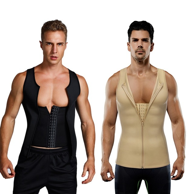 FeelinGirl Men Sweat Vest Tummy Shapers Waist Tranier Workout Shapewear Modeling Belt Sports Slimming Belly Cincher M-4XL 1