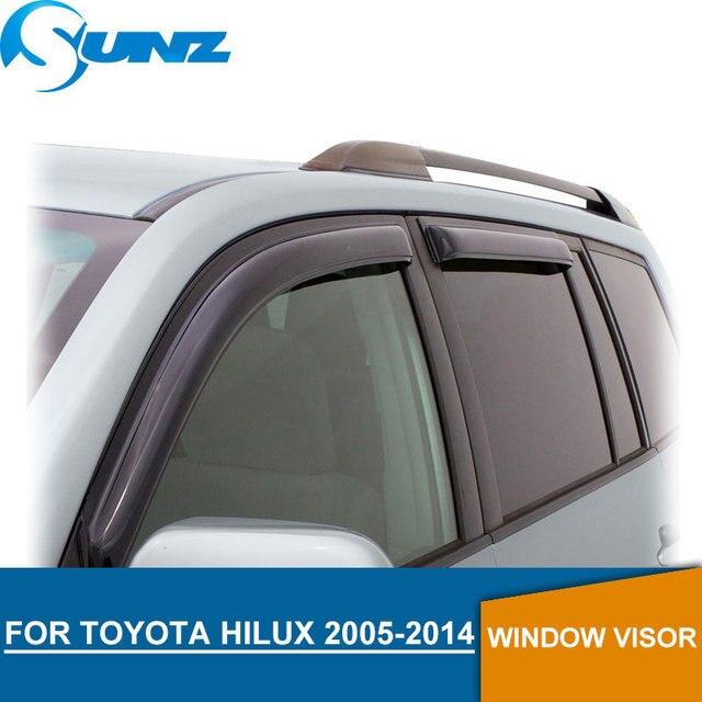 Rain Guards For Trucks >> Us 43 77 30 Off Black Window Visor For Toyota Hilux 2005 2014 Side Window Deflectors Rain Guards For Toyota Hilux 2005 2014 Sunz In Awnings