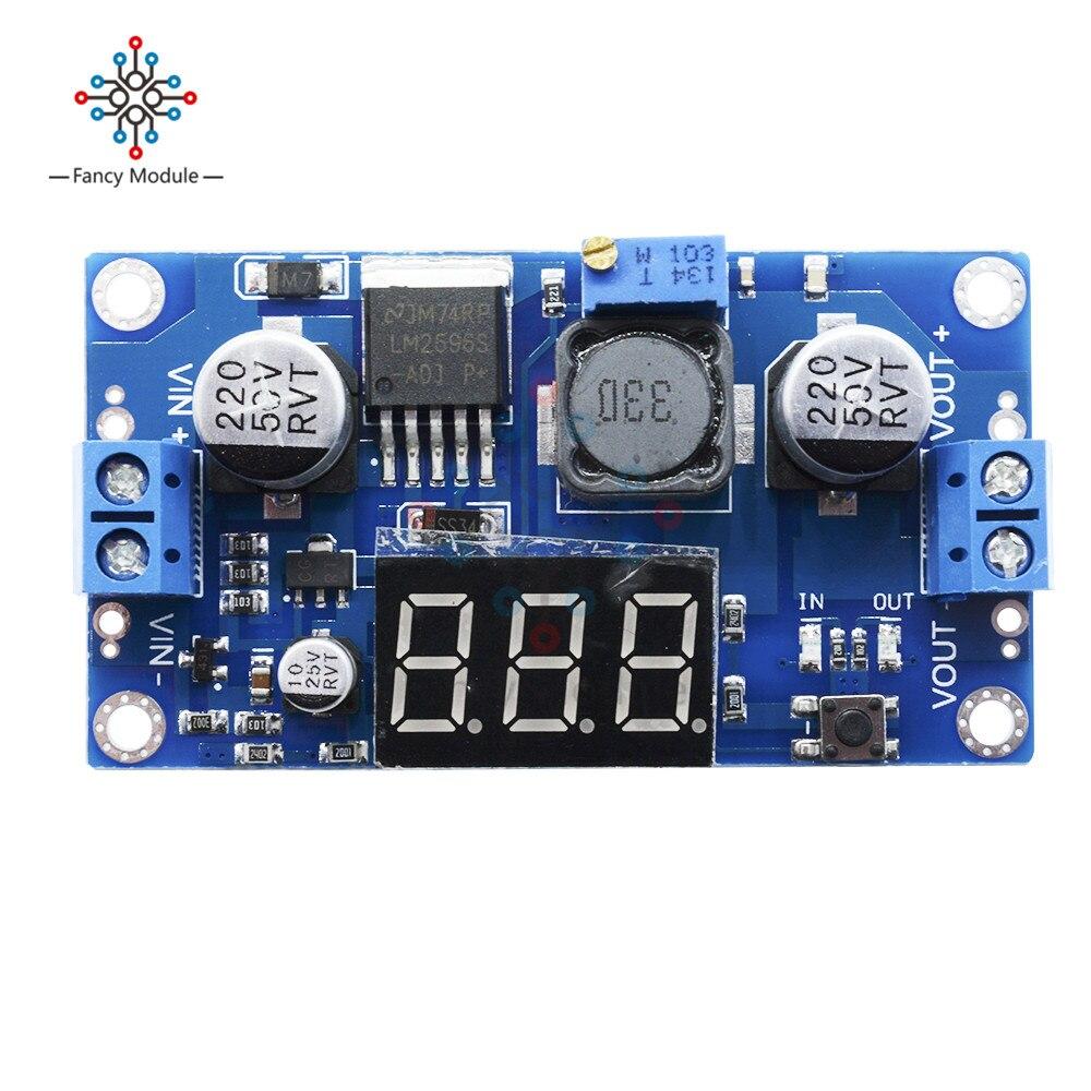 Robotdyn Lm2596 + LED Anzeige Voltmeter, Einstellbares Leistungs Modul FX3M1 1X