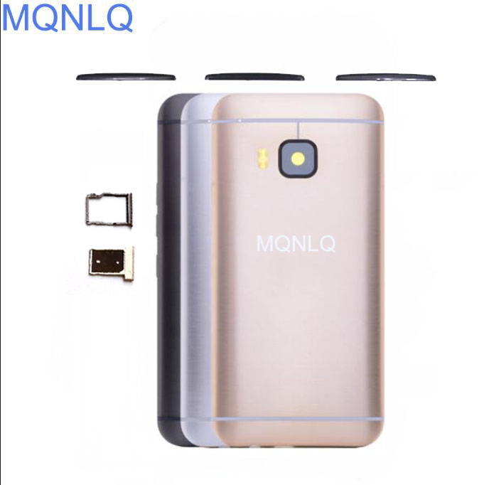 MQNLQ New Aluminum <font><b>Battery</b></font> Housing Back Door Replacement for <font><b>HTC</b></font> <font><b>One</b></font> <font><b>M9</b></font> <font><b>Case</b></font> With Top Cover + Sim Tray + SD TF Tray + Side butto image